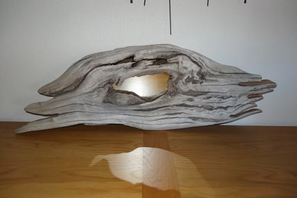 Miroir en bois flotté, art de la nature...