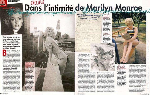 Dans l'intimité de Marilyn Monroe