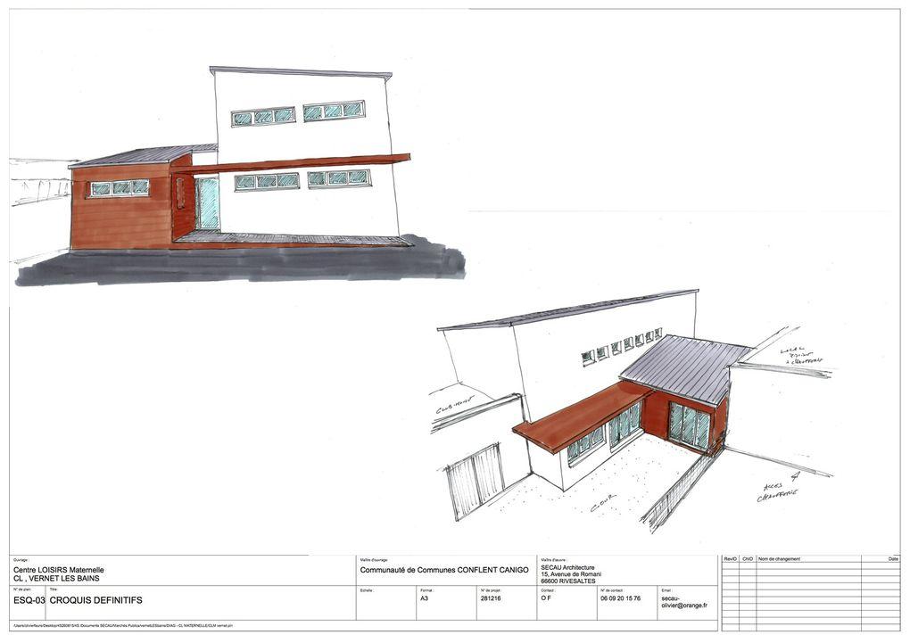 Mars 2017 - Rénovation et Extension des Centres d'Accueil de Loisirs de VERNET-Les-BAINS