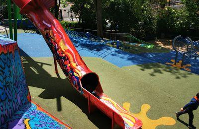 La belle aire de jeux du parc de Belleville