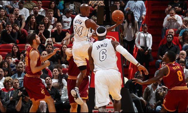 Ray Allen délivre le Heat contre les Cavaliers