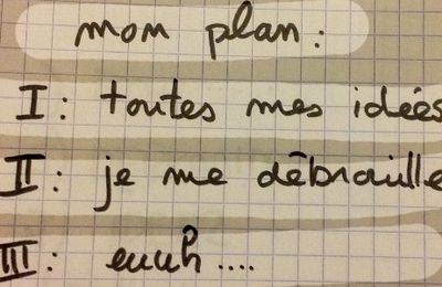 La question du plan en dissertation.