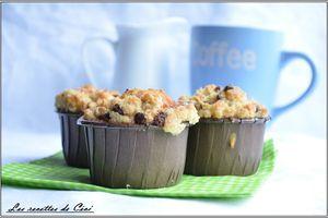 Muffins à la banane et son crumble aux pépites de chocolat