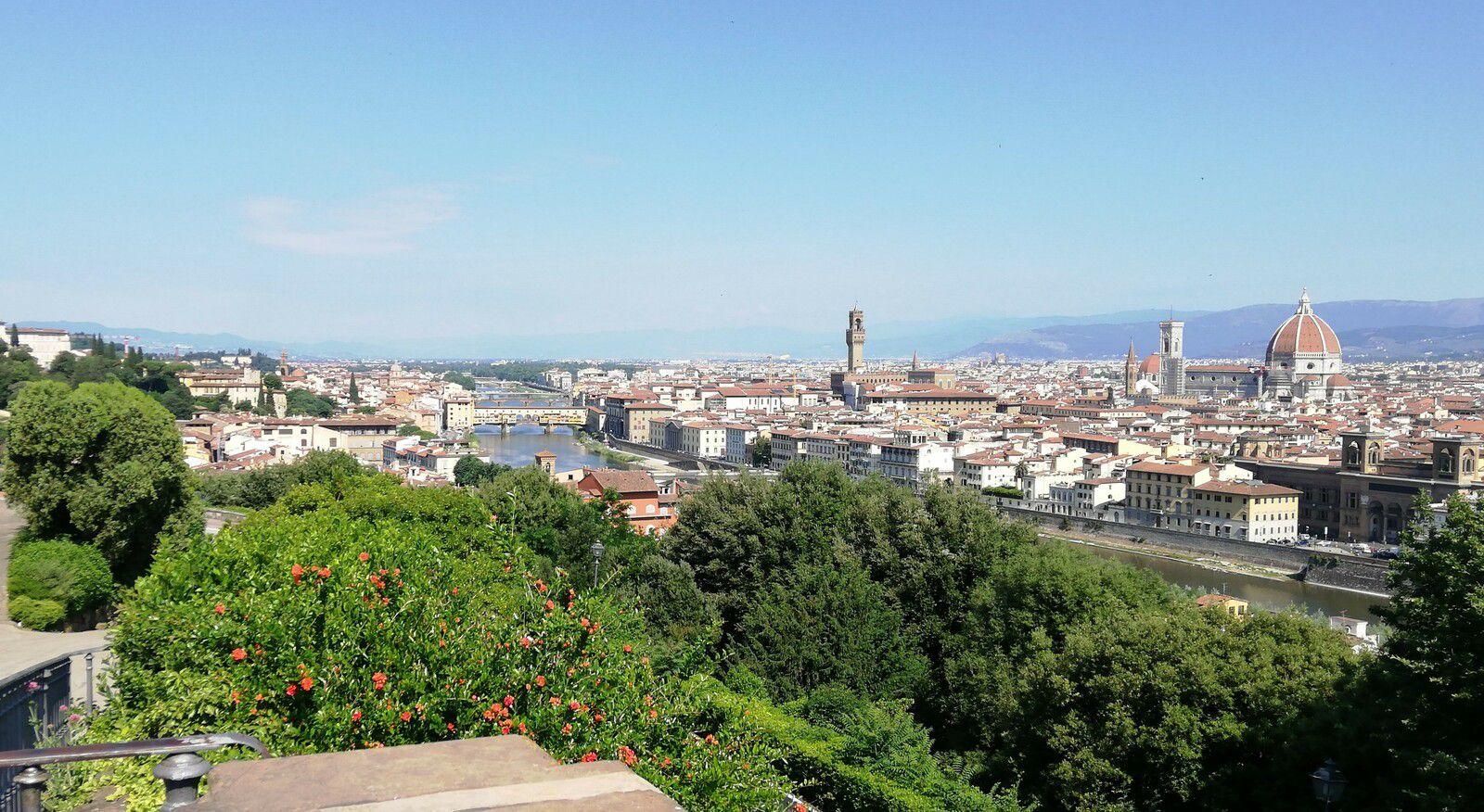 Magnifique vue sur le centre historique de Florence