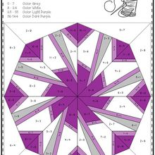 This set of printables includes 10 math quilts with a snowflake theme. These no prep color by code worksheets focus on multiplication facts up to 12 x 12. They make great window displays when cut out! There is an option to change the color of each snowflake. Check back soon. I have another set I'll be posting soon.