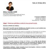 Violences policières contre le mouvement social , lettre ouverte au ministre de l'intérieur - ROUGE CERISE