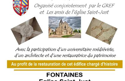 Colloque à FONTAINES 71 - 21 septembre 2019