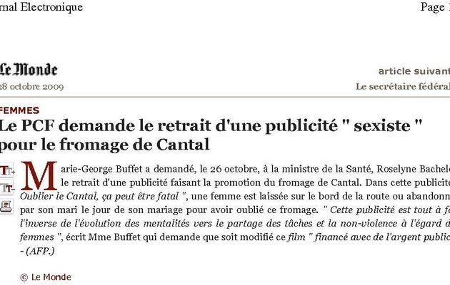 Les communistes attaquent le Cantal !