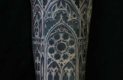 tatouage cathedrale