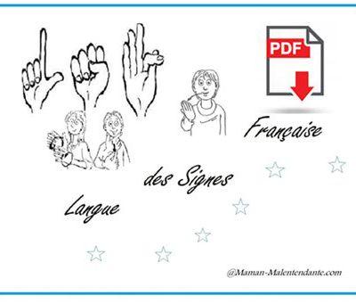 LSF : Les signes des Emotions et Ressentis - PDF Imprimable.