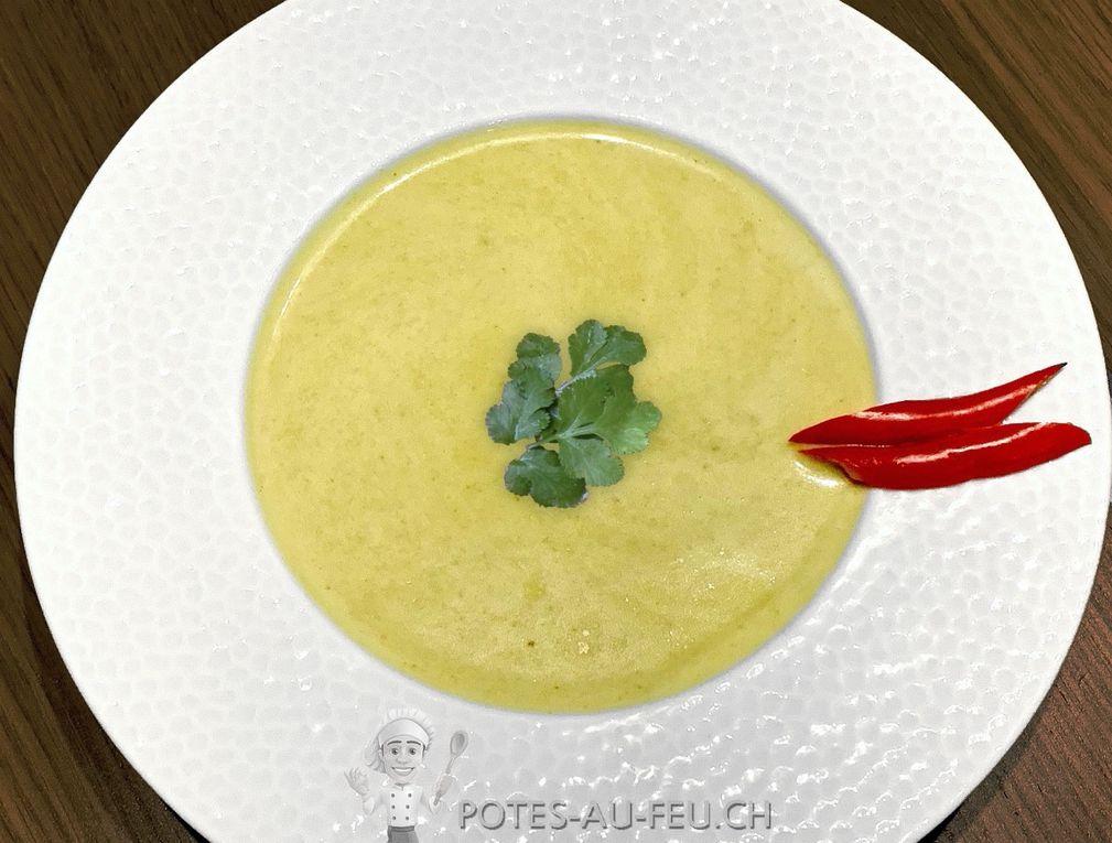 Soupe de Curry vert à la Banane