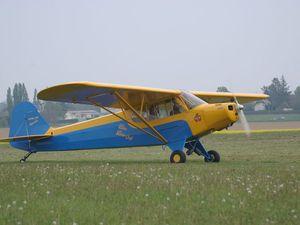 """Autre visiteur ancien, venu en voisin d'Yvetot, ce Piper PA-11 """"Cub Special"""" F-BFFP."""
