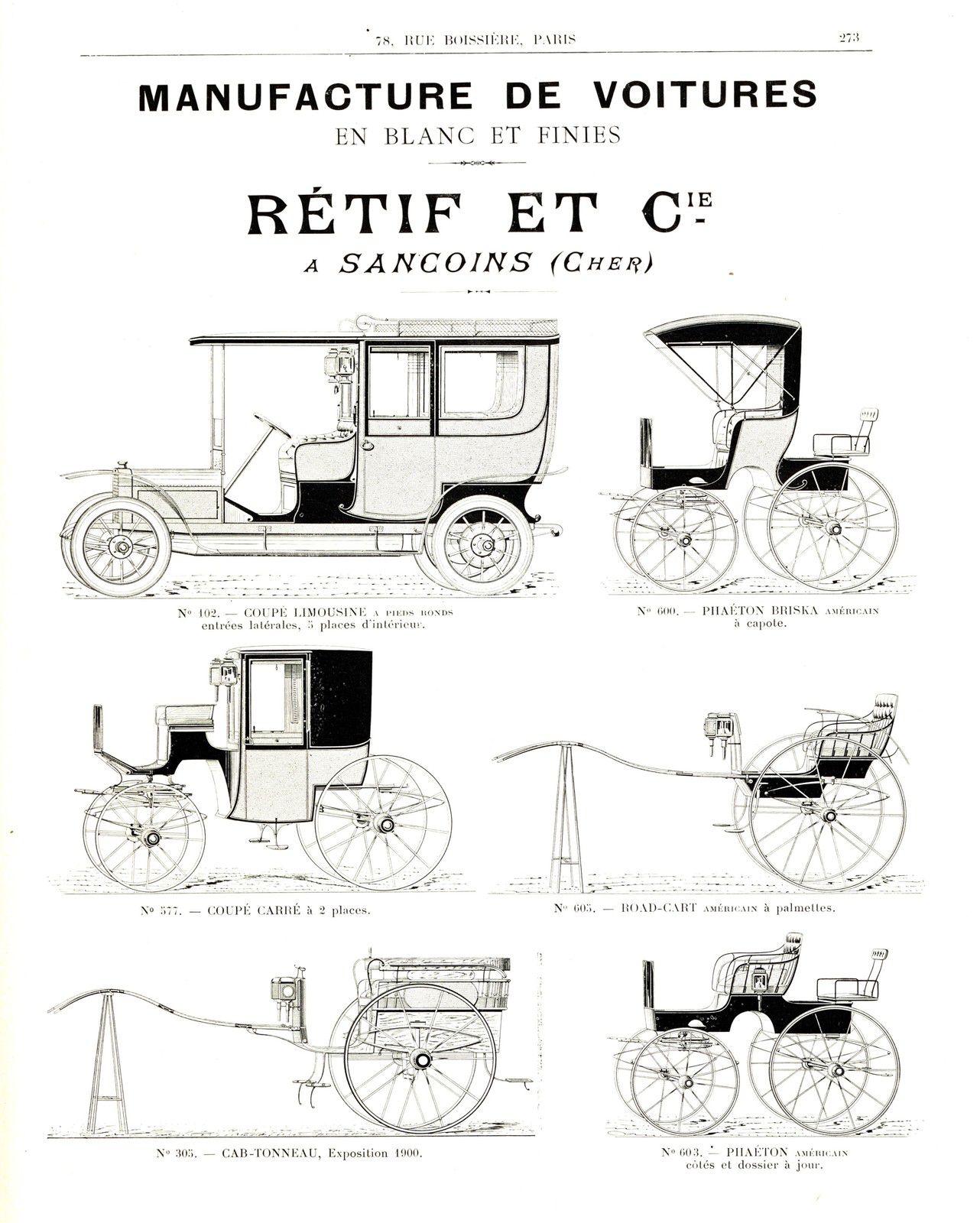 - Publicité extraite du Guide du Carrossier, 1908