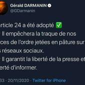 #France : 🔴 Le fameux article 24 qui interdit la diffusion d'images de la #police (non floutées) sur internet a été adopté. 🔴