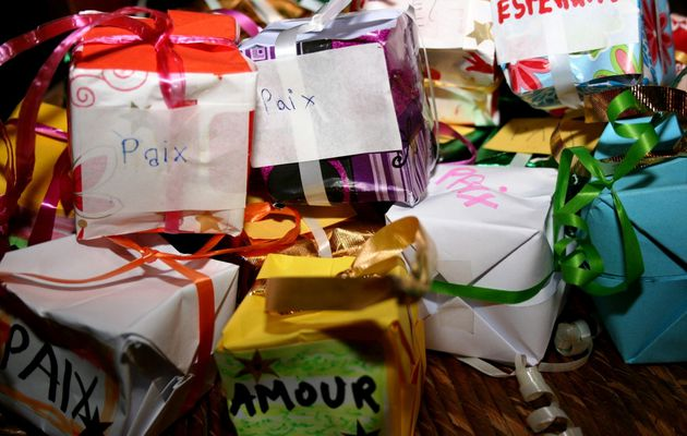 Célébration de Noël par les enfants du caté