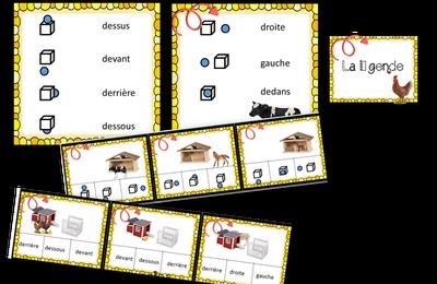 Animaux de la ferme : Cartes à pinces Topologie