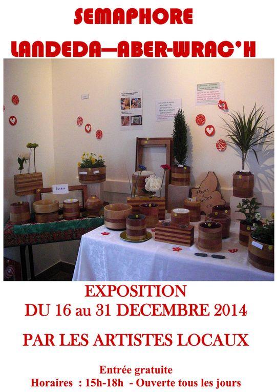 Présentation des exposants pour l'exposition de Noël