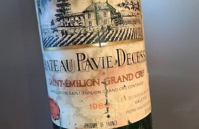 Saint Emilion grand cru classé Pavie-Decesse 1986.