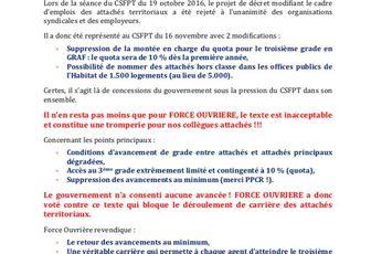 CSFPT PPCR : attachés territoriaux
