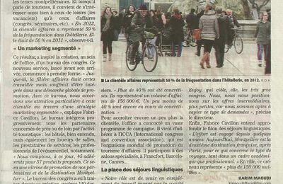 Article de Midi Libre :Office de tourisme et stages linguistiques