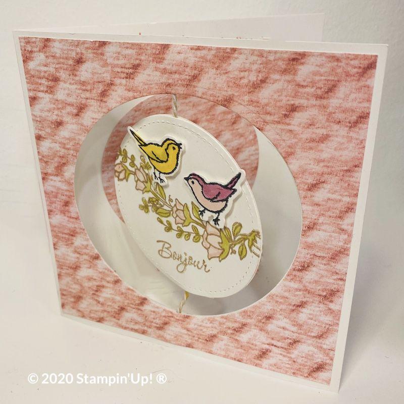 Carte de Corinne Dubeau Stampin up toulouse marseille castres astres vitrolle carte mobile