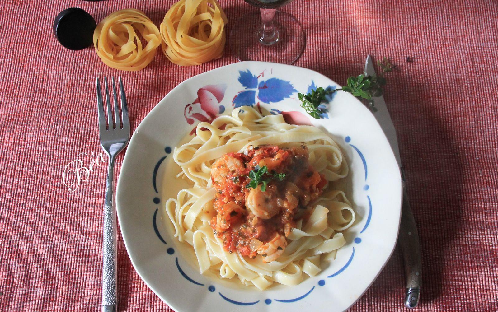 Crevettes à l'italienne