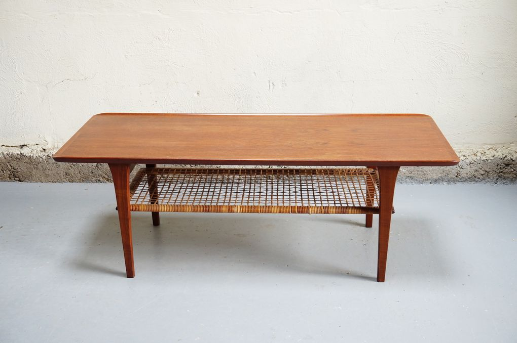 table basse danoise scandinave teck mobelintarsia denmark danish furniture années 50 60 70 salon mad men decoration d'interieur emiellabroc design designer