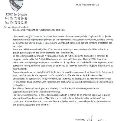 Les mairies du Brignon et de Solignac favorables au projet alternatif à celui de réserve naturelle