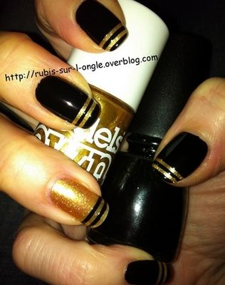 Black and gold striping - tuto