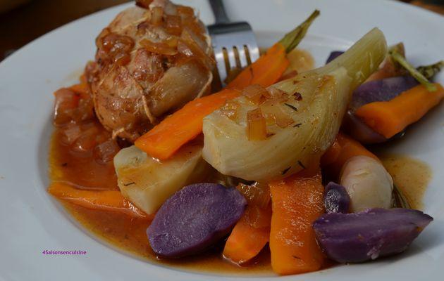 Paupiette de veau - légumes tout en couleur