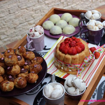 Chariot de desserts...