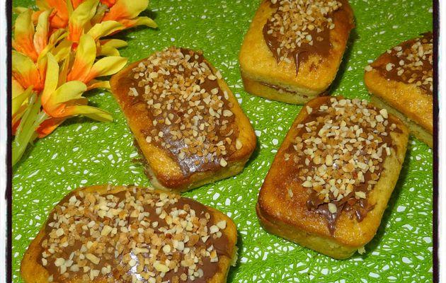Minis cakes vanille nutella