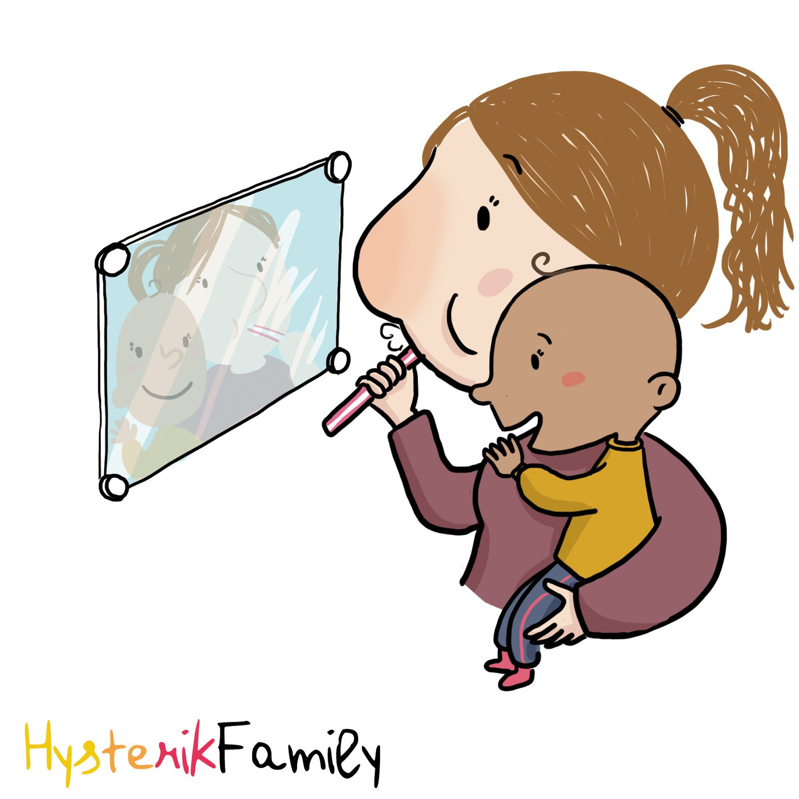 bébé et le stade du miroir