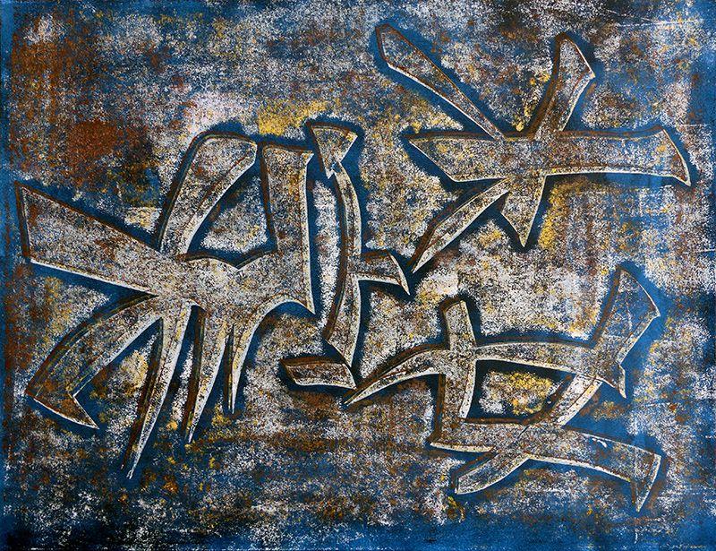 Peinture (monotype) de Christiane Benoît