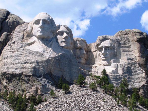 le mont Rushmore.