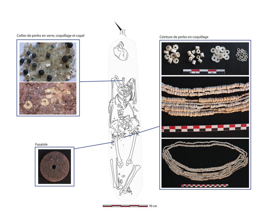 Campagne de fouille de Mai 2013, clichés du mobilier archéologique trouvé en contexte funéraire (XIIe siècle).