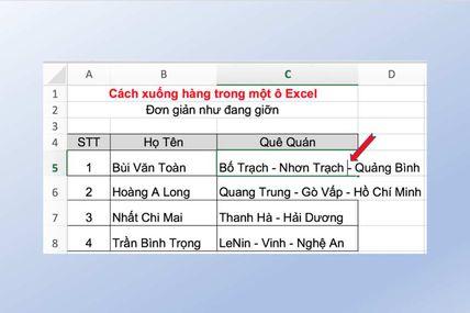 2 Cách Xuống Dòng Trong Excel Đơn Giản Nhất Tôi Từng Biết