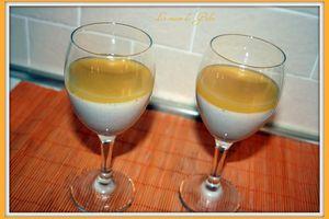 Panacotta vanille et gélifié de jus multivitaminé