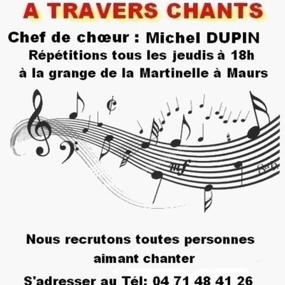 Recrutement pour chanter avec la chorale A Travers Chants
