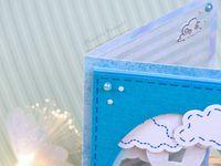 Carte - Scan N Cut - CM600 - Lapin - Pâques - Simple - Facile - Mignonne - Nuages - Fleurs - Strass