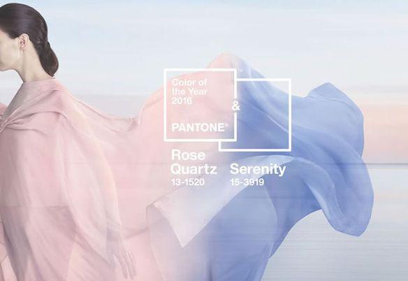 """2016 sera """"rose quartz"""" et """"bleu sérénité""""."""