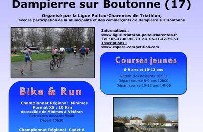 Résultats Bike and Run de Dampierre sur Boutonne (17) le 23 Février 2014