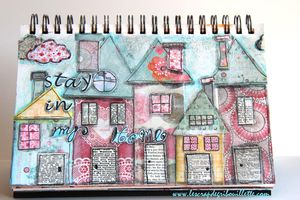 Stay in my Home_Art Journal_Mixed Media en toute amitié_1