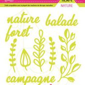 FDSDL004 : LOT DE 9 DIES NATURE Fée du Scrap
