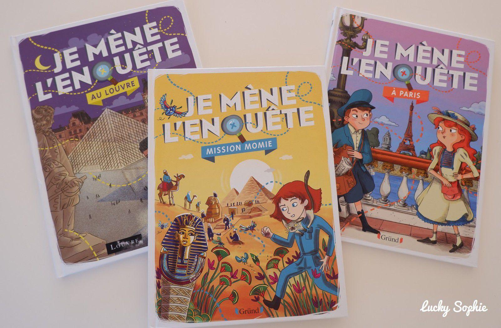 Des livres d'enquêtes pour enfants
