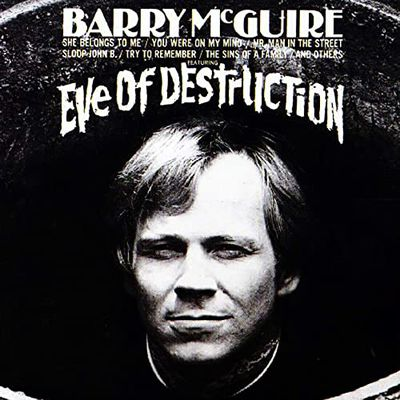 "barry McGuire, un auteur-compositeur interprète américain de formation folk et son hit ""Eve of destruction"""