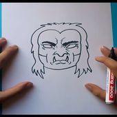 Como dibujar un demonio paso a paso   How to draw a demon