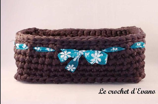 Tuto crochet gratuit : corbeille en trapilho