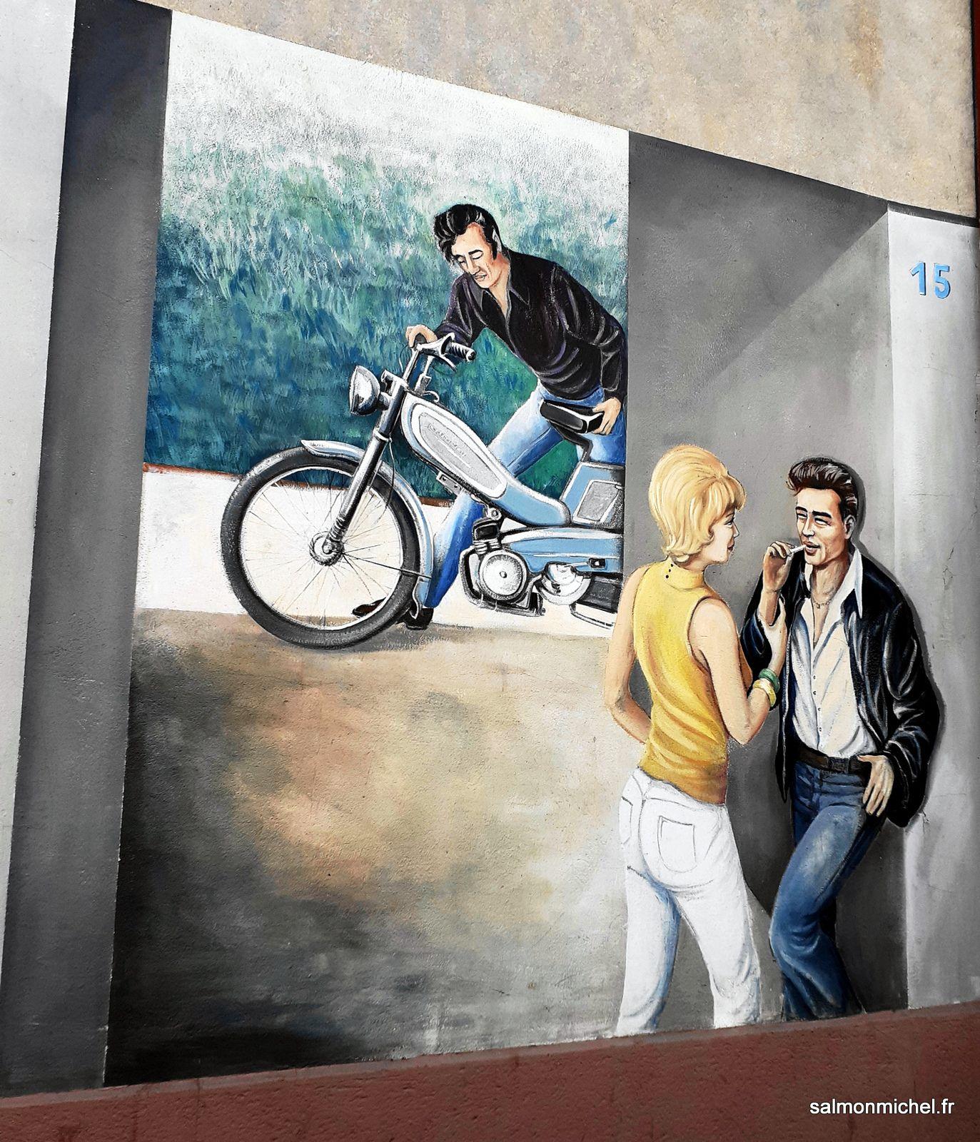 """Image du mur peint du dépôt TCL """"Les Pins"""" Av. Lacassagne Lyon 3ème 19/08/2021"""