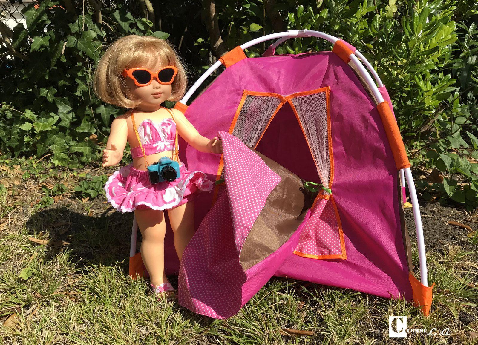 Camper par une belle nuit de fin d'été